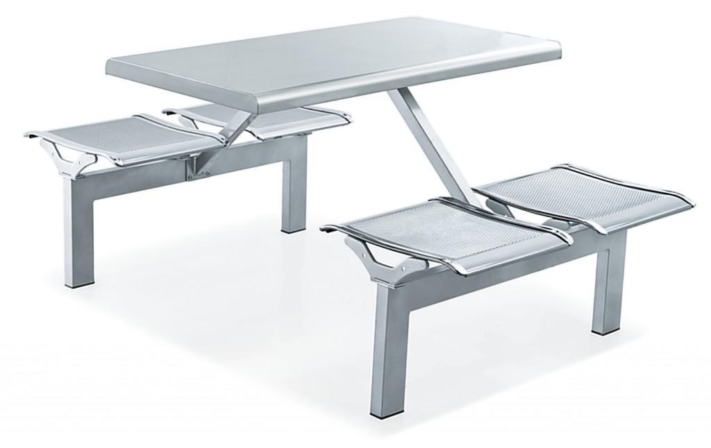 四人不锈钢餐桌椅 MSD-CZ11