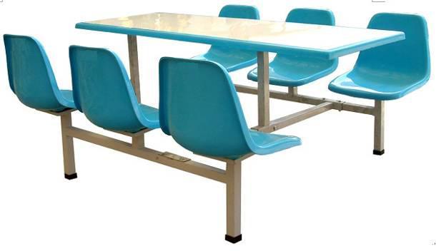 六人玻璃钢餐桌椅 MSD-CZ04