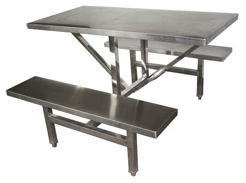 四人不锈钢餐桌椅 MSD-CZ09